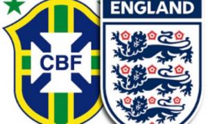 Англия – Бразилия 14 ноября в 23:00