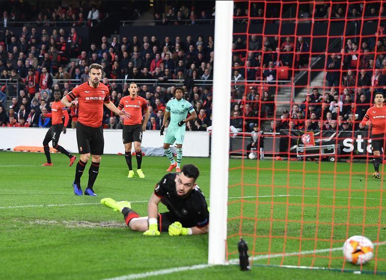 гол в матче Арсенал - Ренн
